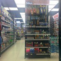 Ассортимент хозяйственных товаров в магазине Мосхозторг
