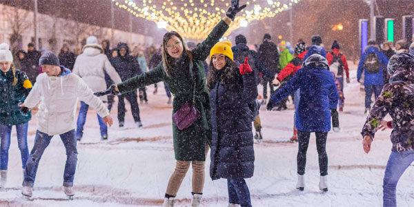 28.02.2019 Акция «Ночь на катке — 2019» в парках Москвы