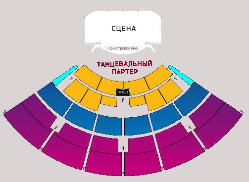 Схема концертного зала Крокус Сити Холл
